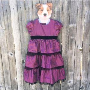 Hanna Andersson Iridescent Fuchsia Party Dress 130